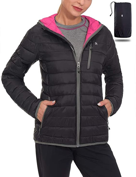 Little Donkey Andy Womens Lightweight Hooded Fleece Jackets for Hiking Travelling Casual Wear